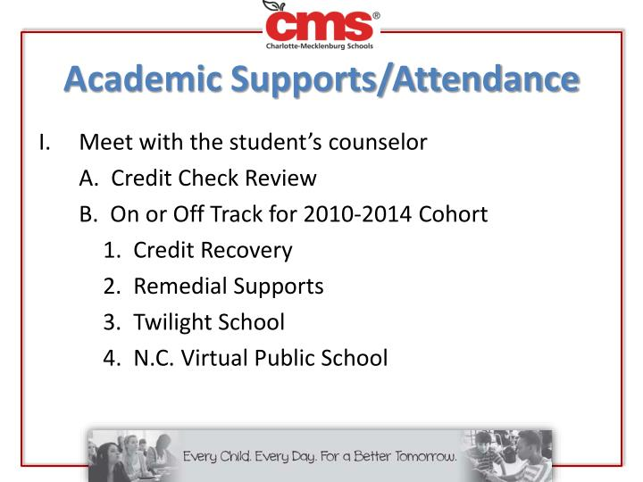 Academic Supports/Attendance