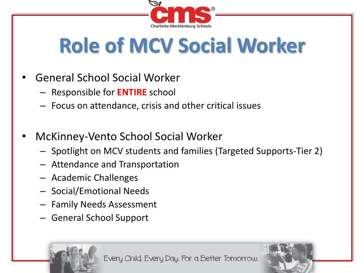 Role of MCV Social Worker
