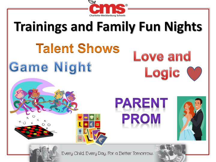 Trainings and Family Fun Nights