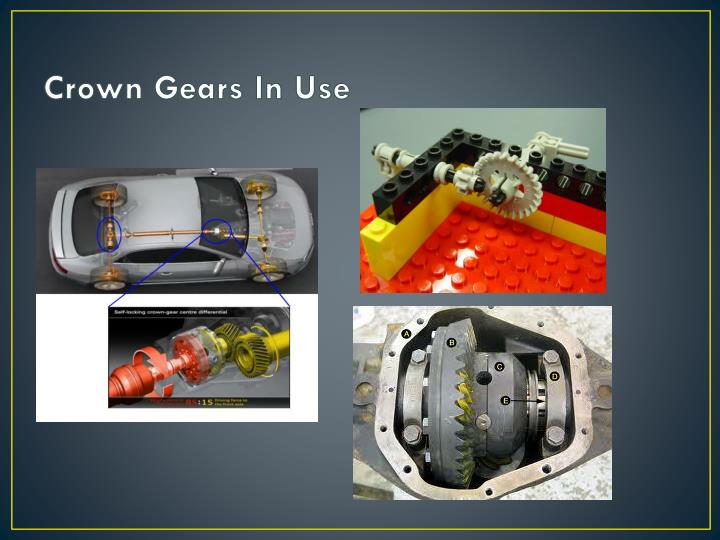 Crown Gears In Use