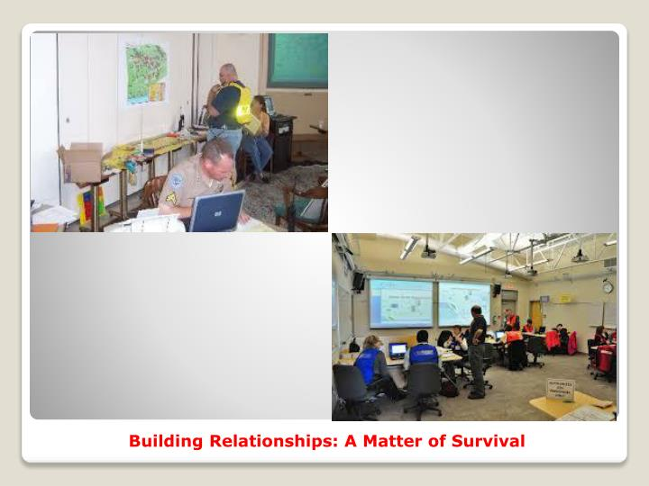 Building Relationships: A Matter of Survival