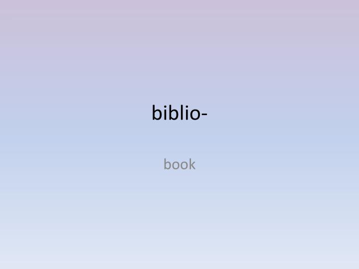 biblio-