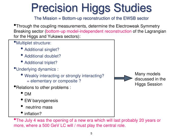Precision Higgs Studies