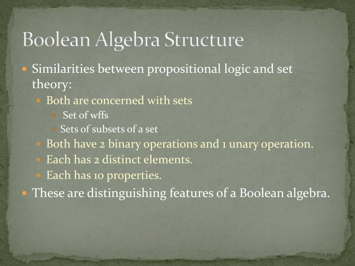 Boolean Algebra Structure