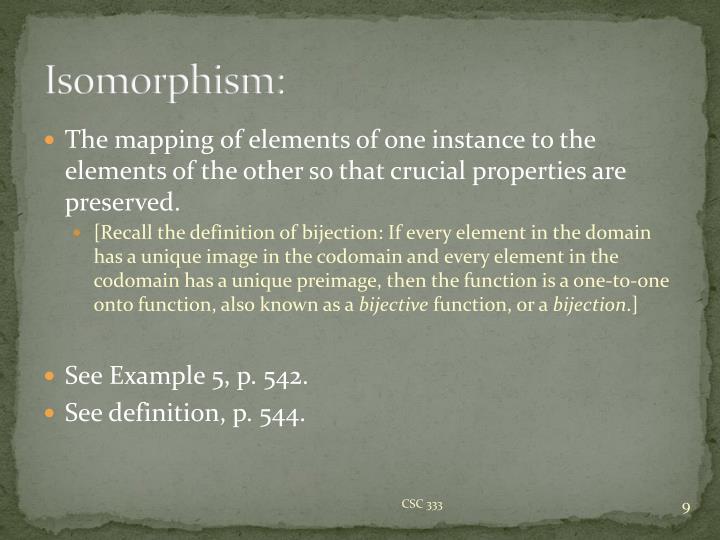 Isomorphism: