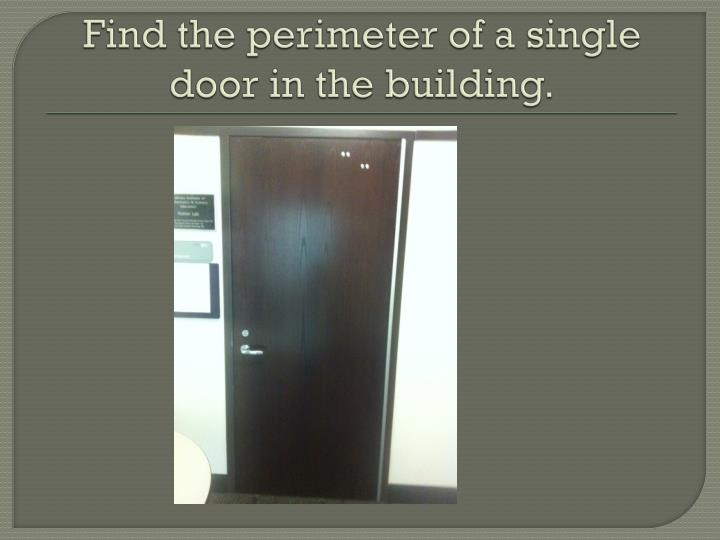 Find the perimeter of a single door in the building