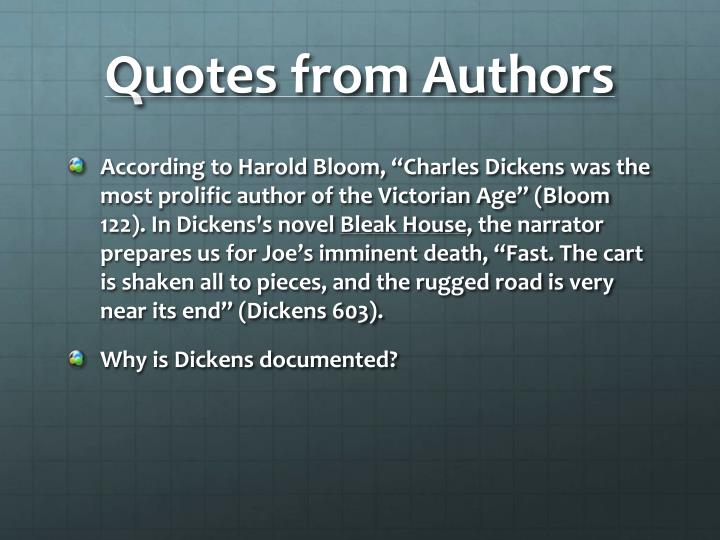 Quotes from Authors