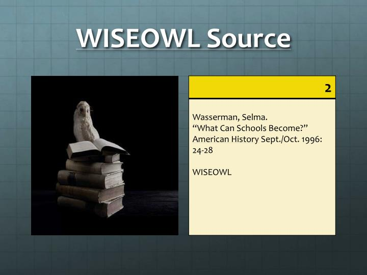 WISEOWL Source