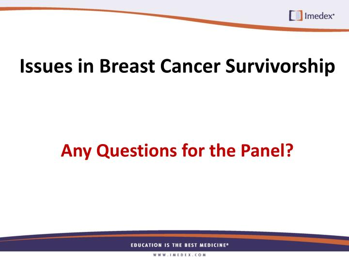 Issues in Breast Cancer Survivorship