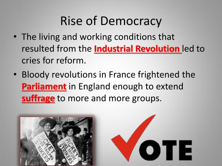 Rise of democracy