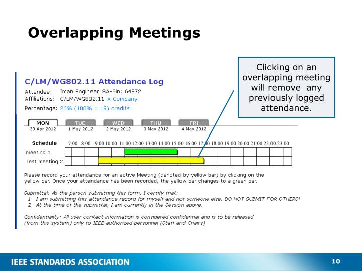 Overlapping Meetings
