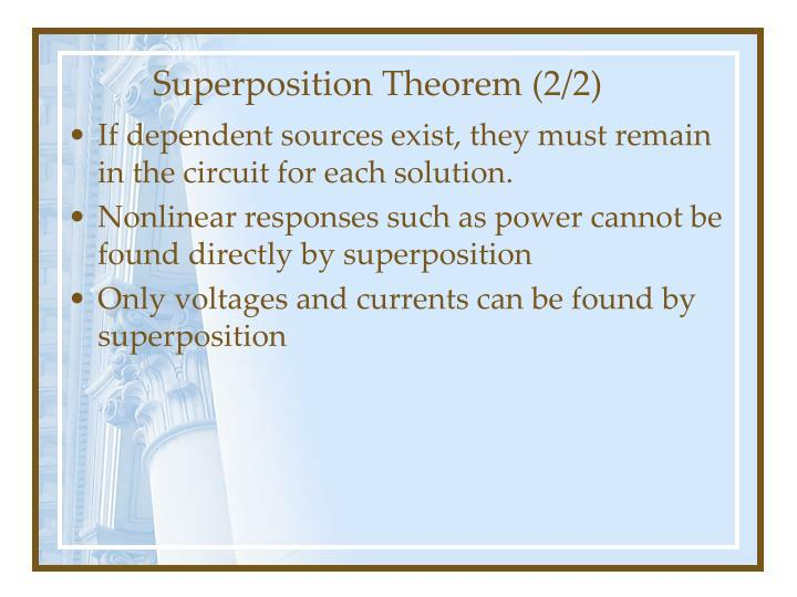 Superposition Theorem (2/2)