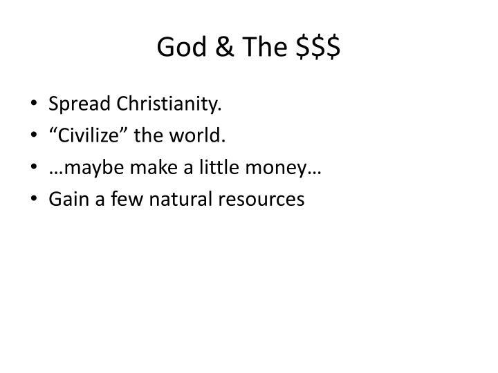 God & The $$$