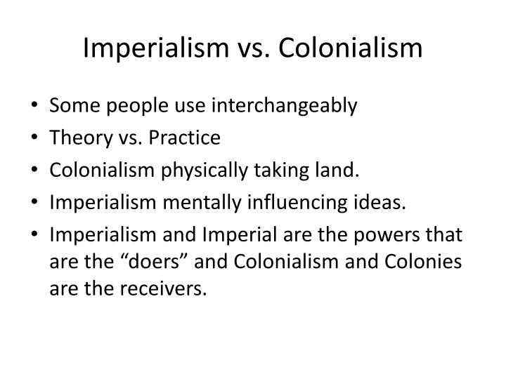 Imperialism vs colonialism