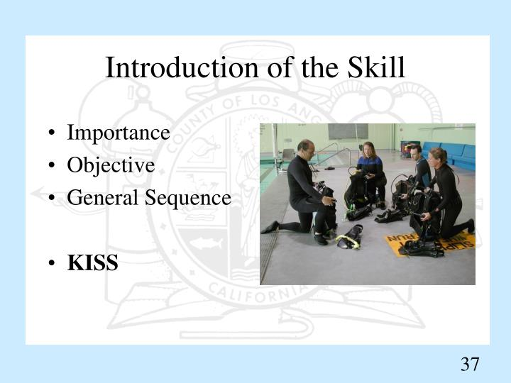 Introduction of the Skill