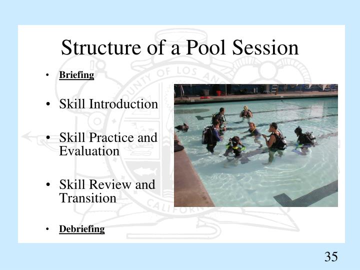 Structure of a Pool Session