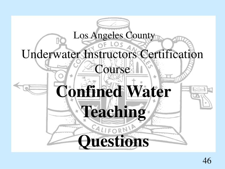 Underwater Instructors Certification Course