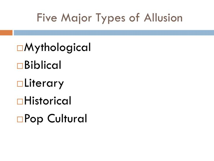 Five Major Types of Allusion