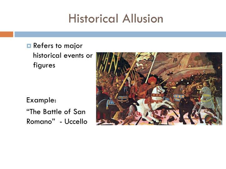 Historical Allusion