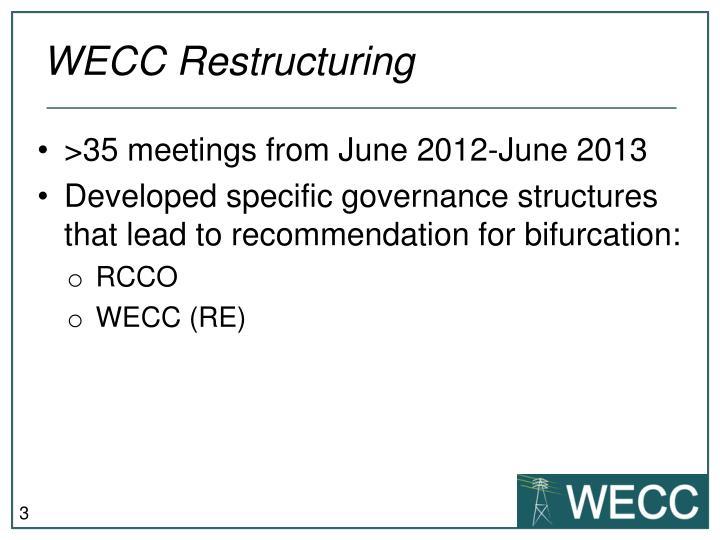 WECC Restructuring