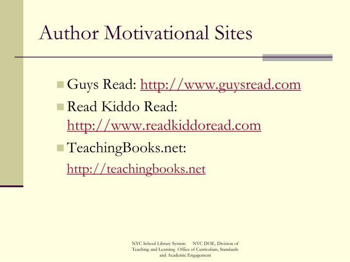 Author Motivational Sites