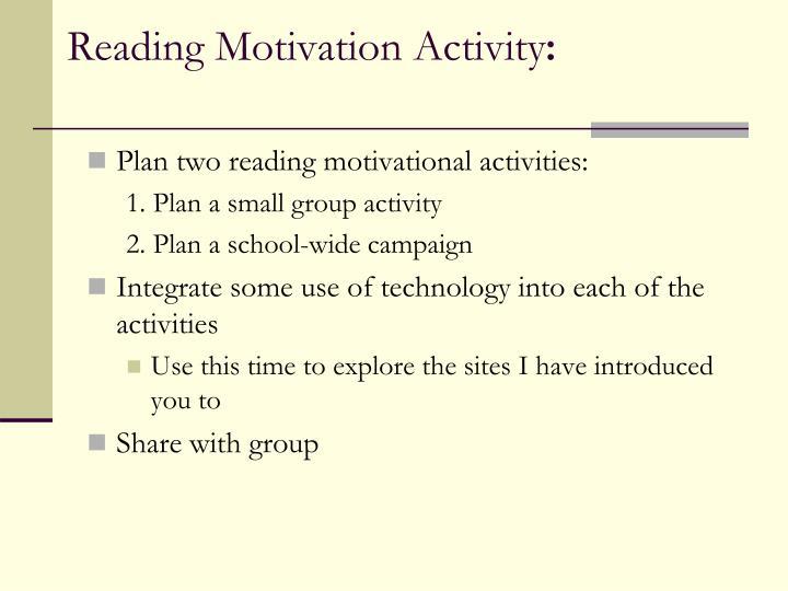 Reading Motivation Activity