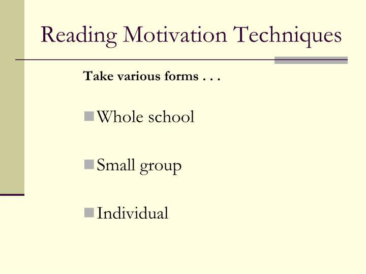 Reading Motivation Techniques