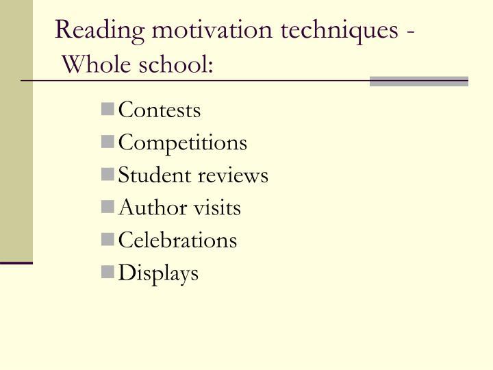 Reading motivation techniques -