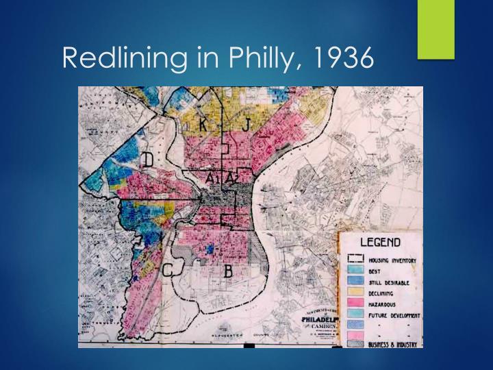 Redlining in Philly, 1936