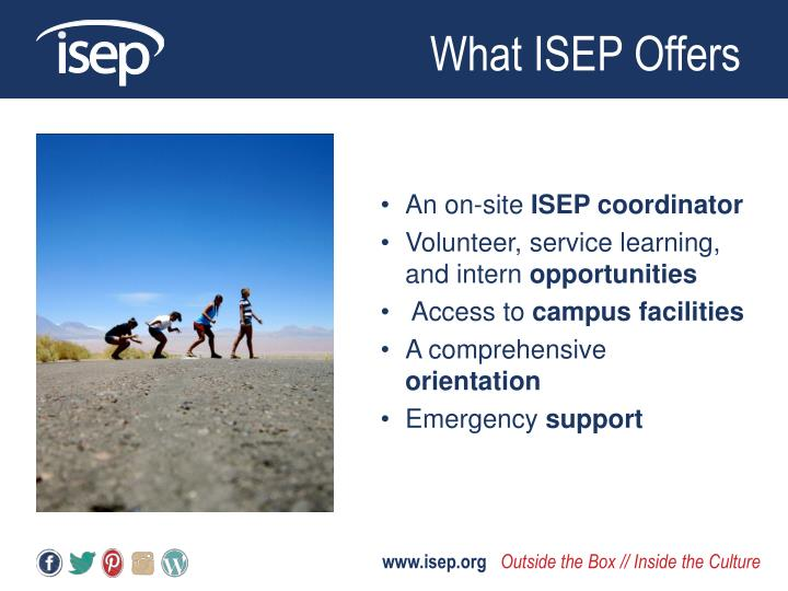 What ISEP Offers