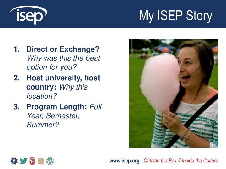 My ISEP Story