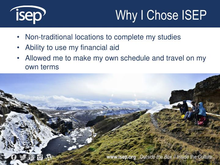 Why I Chose ISEP