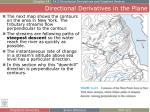 directional derivatives in the plane