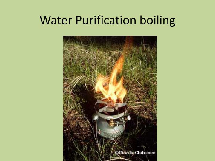 Water Purification boiling