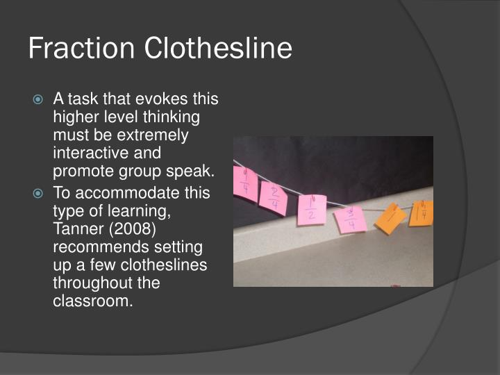 Fraction Clothesline