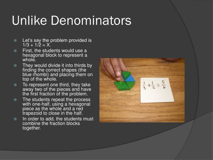 Unlike Denominators