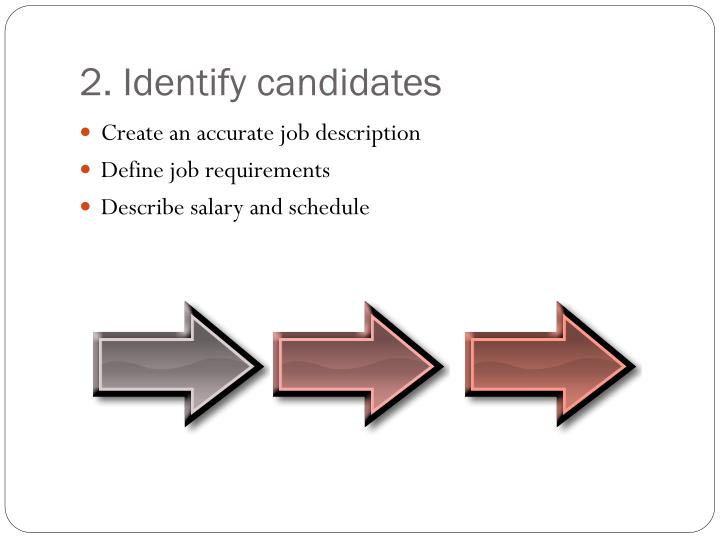 2. Identify candidates