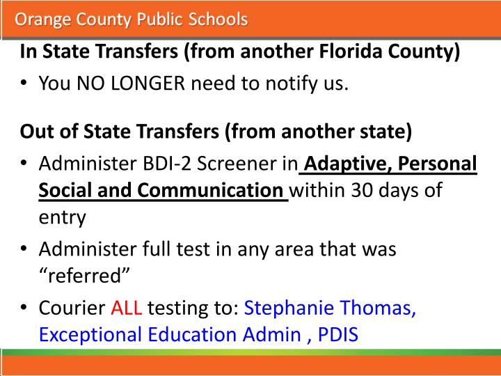 In State Transfers (from another Florida County)