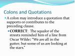 colons and quotations