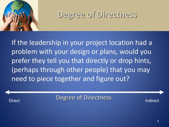 Degree of Directness