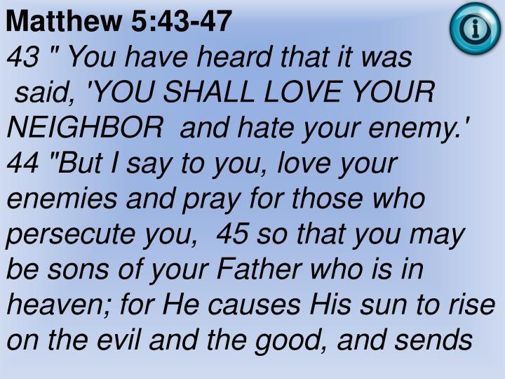 Matthew 5:43-47