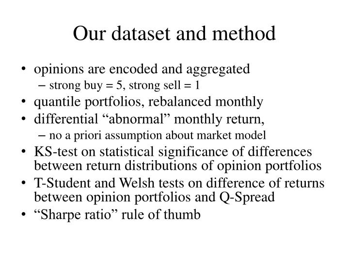 Our dataset and method