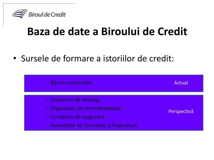 Baza de date a Biroului de Credit
