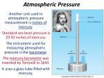 atmospheric pressure1