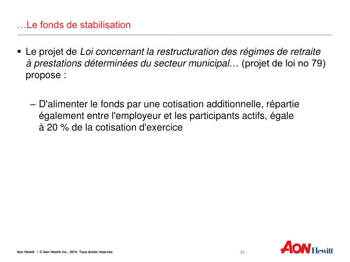 …Le fonds de stabilisation