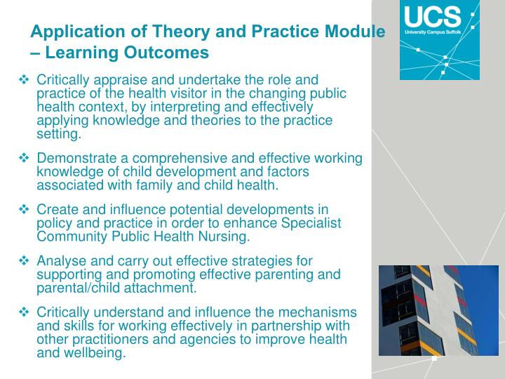 Application of Theory and Practice Module – Learning Outcomes