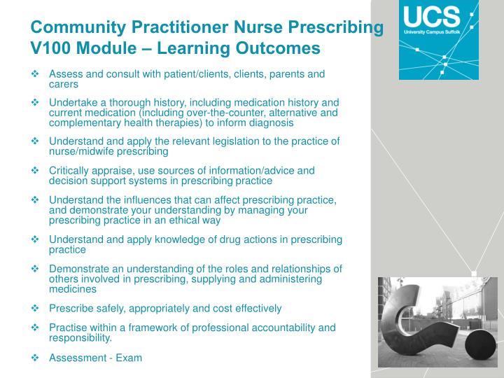 Community Practitioner Nurse Prescribing