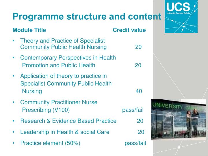 Programme structure and content