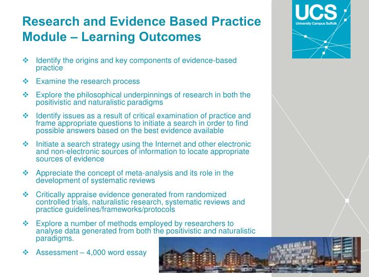Research and Evidence Based