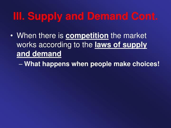 III. Supply